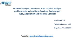 Strategic Analysis on Financial Analytics Market Forecast to 2025 |The Insight Partners