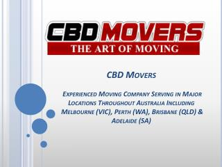 Moving Company Melbourne - CBD Movers