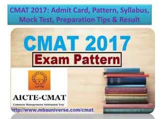 CMAT 2017: Admit Card, Pattern, Syllabus, Mock Test, Preparation Tips & Result