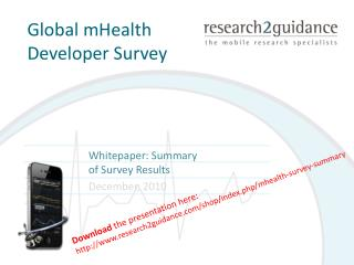 Global mHealth Developer Survey