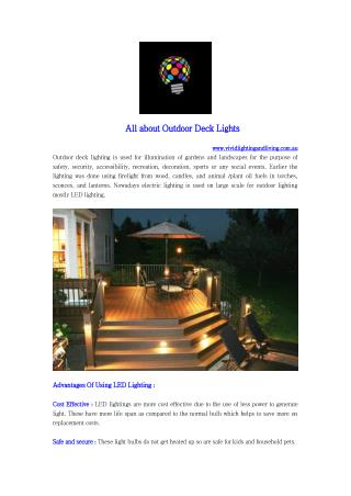 All about Outdoor Deck Lights