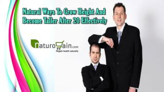 Natural Ways To Grow Height And Become Taller After 20 Effectively