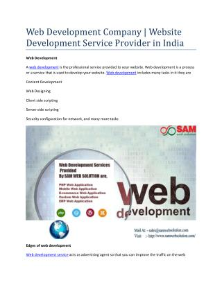 Web Development Company | Website Development Service Provider in India