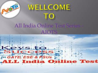 Online Test Series | Test Series For Gate