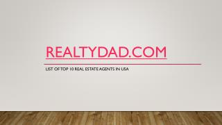 Real Estate Agents In USA
