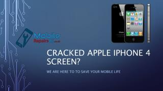 Best Apple iPhone 4 Repair Services from MobileRepairs4U