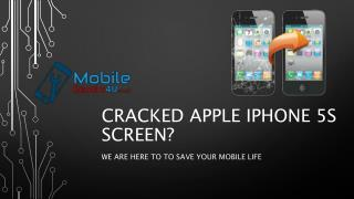 Best Apple iPhone 5S broken screen, camera and battery Repair Services