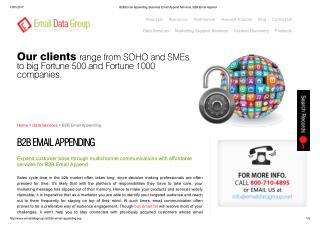 B2B Email Append from Email Data Group