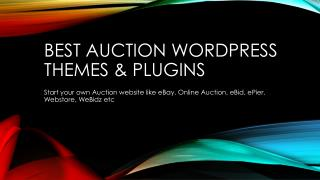 Best Auction WordPress Themes And Plugins