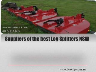 Suppliers of the best Log Splitters NSW