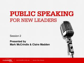 Public Speaking for New Leaders [session 2]