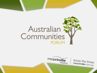 Mark McCrindle Australian Communities Forum: Communities Defined