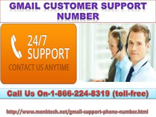 Gmail Customer Support Number 1-866-224-8319 Help of Gmail login issues