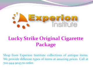 Lucky Strike Original Cigarette Package