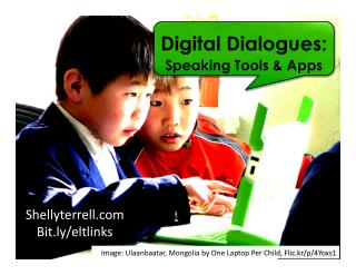 Digital Dialogues: Speaking Activities, Web Tools & Apps (All Ages)