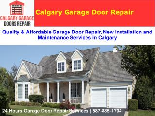 Garage Door Repair and New Installation Services | Calgary Garage Doors