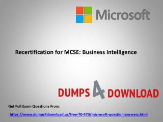 Verified Microsoft 70-470 Exam Dumps Questions - PPT