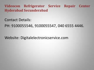 Videocon Refrigerator Service Repair Center Hyderabad Secunderabad