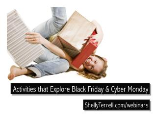 Activities & Lesson Ideas Exploring Black Friday and Cyber Monday
