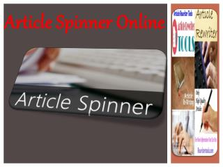 Article Spinner Online