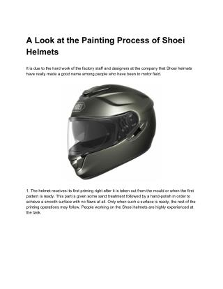 A Look at the Painting Process of Shoei Helmets