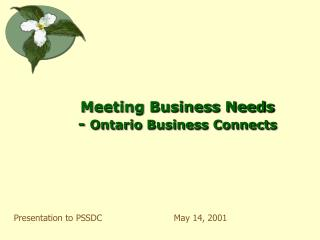 Meeting Business Needs -  Ontario Business Connects