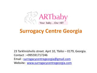 ARTbaby Surrogacy Centre Georgia Offers Surrogacy and Egg Donor Services