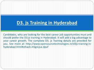 D3. js Training in Hyderabad
