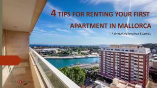 4 Tips For Renting Your First Apartment In Mallorca
