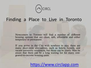 Finding a Place to Live in Toronto | CIRCL