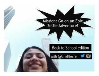 Back to School Selfie Adventure Activity for Students