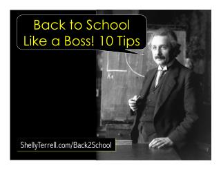 Back to School Like a Boss! 10 Tips