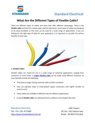 What Are the Different Types of Flexible Cable?