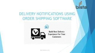 Delivery notifications using order shipping software in ODOO
