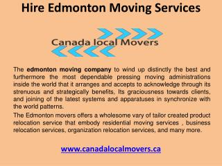 Find edmonton moving services