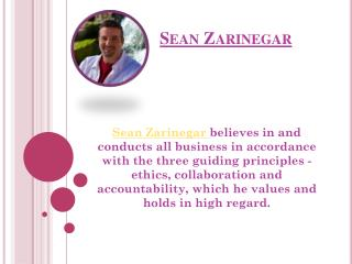 Sean Zarinegar-  Real Estate Investor and Firm Manager