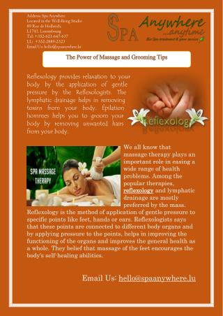 The Power of Massage and Grooming Tips