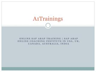 Online SAP ABAP Training | SAP ABAP Online Coaching institute in USA, UK, Canada, Australia, India