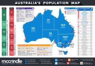 Australia's 2014 Population Map and Generational Profile