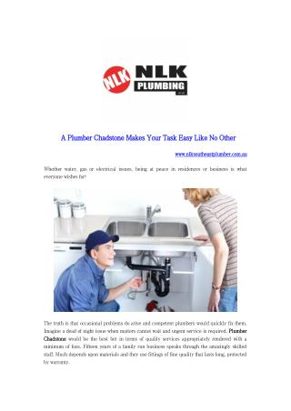 A Plumber Chadstone Makes Your Task Easy Like No Other