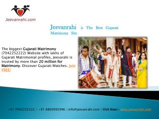 No1 #Gujarati matrimony sites 100% free in india