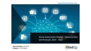 Home Automation Market Global Opportunity Analysis and Industry Forecast, 2014 - 2022