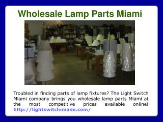 Lamp mounting Miami
