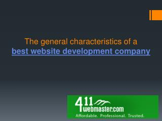 Features of a best website development company!