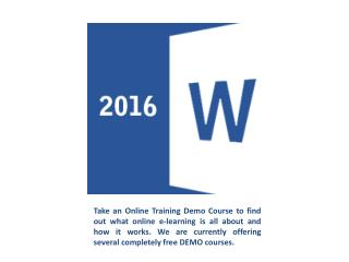 Professional  Microsoft Office 2016 Training