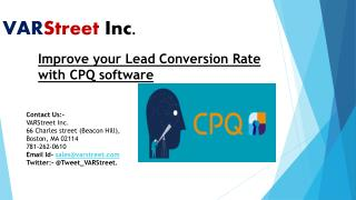 Improve your Lead Conversion Rate with CPQ software