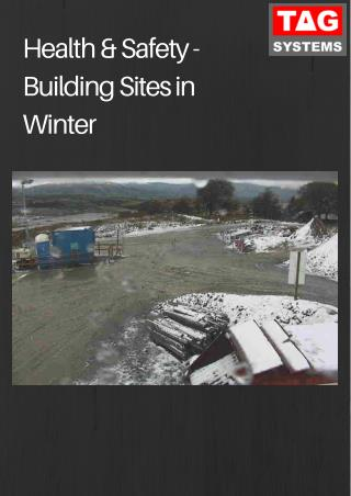 Health & Safety - Building Sites in Winter