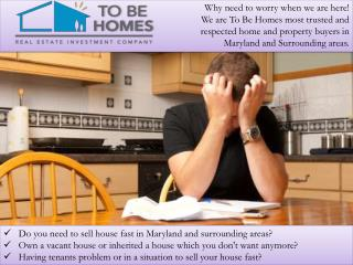 How to sell homes fast Maryland
