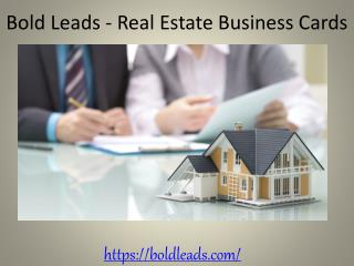 Bold Leads - Real Estate Business Cards