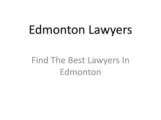 Edmonton Lawyers
